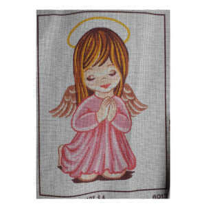 Collection D'Art Printed Tapestry Needlepoint ANGEL GIRL PRAYING 22x30cm