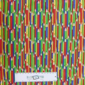 Patchwork Quilting Sewing Fabric PENCILS 50x55cm FQ New Material