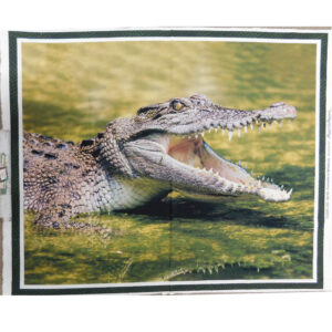 Patchwork Quilting Sewing Fabric CROCODILE Panel 90x110cm New Material
