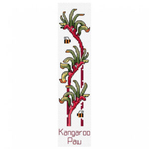 Country Threads Cross Stitch Bookmark Kit Kangaroo Paw including Threads