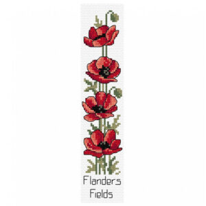 Country Threads Cross Stitch Bookmark Kit Flanders Field including Threads