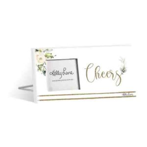 French Country Standing Occasions CHEERS 3x3inch Photo Frame