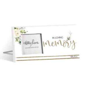 French Country Standing Occasions LOVING MEMORY 3x3inch Photo Frame