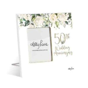 French Country Standing Occasions 50th ANNIVERSARY Photo Frame