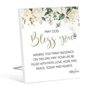 French Country Wooden Sign Occasions BLESS YOU Plaque