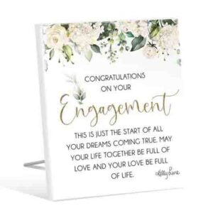 French Country Wooden Sign Occasions ENGAGEMENT Plaque