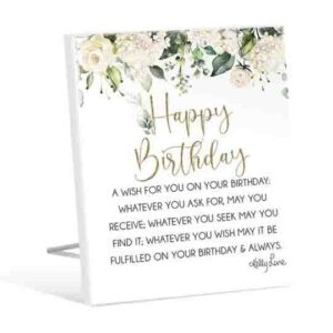 French Country Wooden Sign Occasions HAPPY BIRTHDAY Plaque