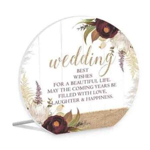 French Country Wooden Sign Natives WEDDING WISHES Plaque