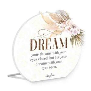 French Country Wooden Sign Bismark LIVE YOUR DREAM Plaque