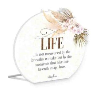 French Country Wooden Sign Bismark LIFE BREATHS Plaque