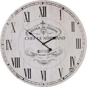 Clock Country Vintage Inspired Wall Large CHEF LE NORMAND 58cm