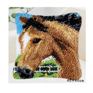 Crafting Kit Latch Hook with Canvas Hook and Threads HORSE