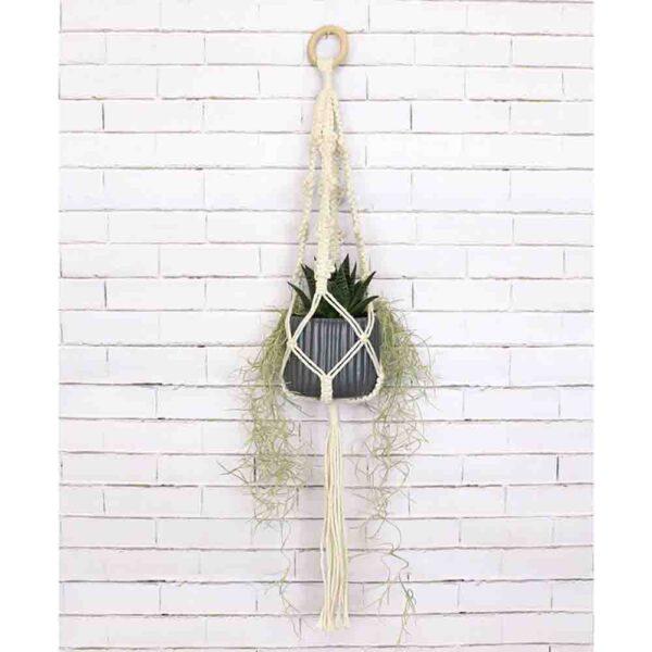 Creative Macrame Kit PLANT HANGER 4 PICOTS Make your Own