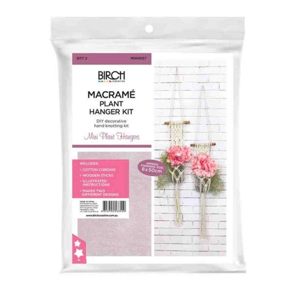 Creative Macrame Kit MINI PLANT HANGERS x 2 Make your Own