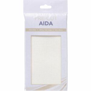 Create Handmade Cross Stitch Aida Cloth 14 Count WHITE Size 36x45cm Fabric