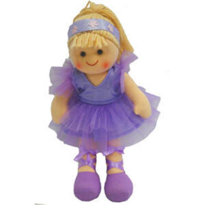 Hopscotch Soft Rag Doll AMY Dressed Girl Doll Medium 25cm