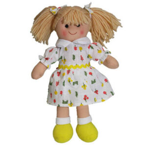 Hopscotch Soft Rag Doll ANNIE Dressed Girl Doll Medium 25cm
