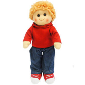 Hopscotch Lovely Soft Rag Doll ELLIOT Boy Dressed Doll Large 35cm