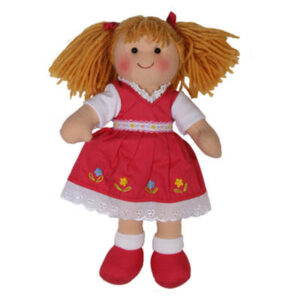 Hopscotch Soft Rag Doll HOLLY Dressed Girl Doll Medium 25cm