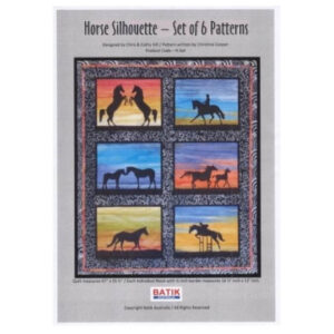 Quilting Sewing HORSE 1 Batik Quilt Pattern Kit including Fabric
