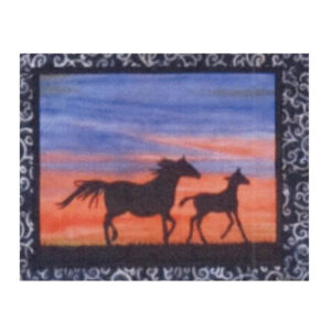 Quilting Sewing HORSE 4 Batik Quilt Pattern Kit including Fabric