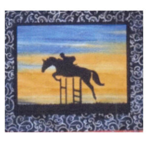 Quilting Sewing HORSE 6 Batik Quilt Pattern Kit including Fabric