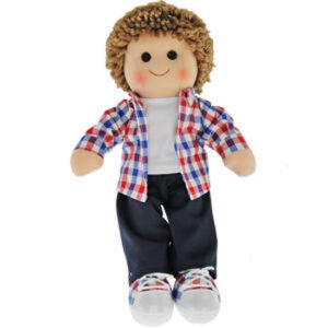 Hopscotch Lovely Soft Rag Doll JACK Boy Dressed Doll Large 35cm