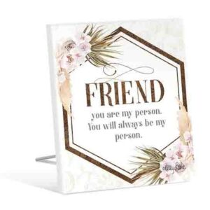 French Country Wooden Sign Bismark FRIEND MY PERSON Plaque