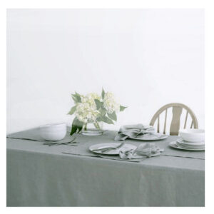 Country Table Cloth KILDARE GREY GREEN Tablecloth RECTANGLE 150x300cm