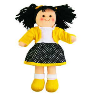 Hopscotch Soft Rag Doll LOLA Dressed Girl Doll Medium 25cm