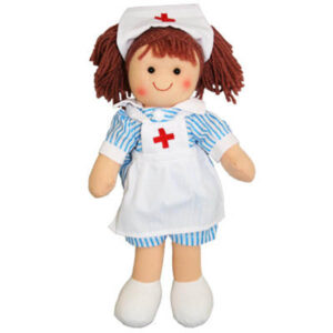 Hopscotch Soft Rag Doll LOUISE Dressed Girl Doll Medium 25cm