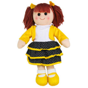 Hopscotch Lovely Soft Rag Doll MAGGIE Girl Dressed Doll Large 35cm