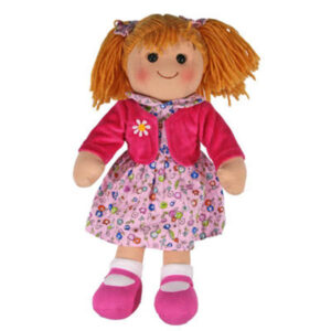 Hopscotch Lovely Soft Rag Doll MEGHAN Pink Dress Doll Large 35cm