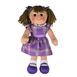 Hopscotch Lovely Soft Rag Doll PENNY Purple Dress Doll Large 35cm