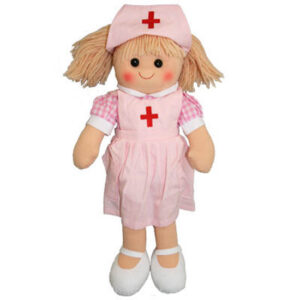 Hopscotch Lovely Soft Rag Doll THELMA Girl Dressed Doll Large 35cm