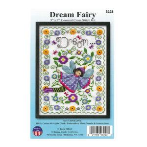 Cross Stitch DREAM FAIRY X Stitch with Aida Fabric Kit Incl Threads