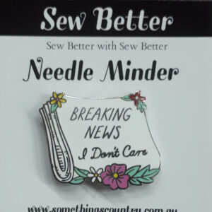 Sew Better Cross Stitch Needle Minder Keeper BREAKING NEWS