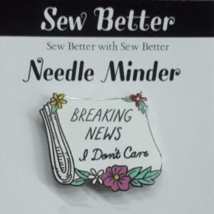 Sew Better Cross Stitch Needle Minder Keeper Breaking News