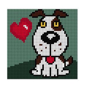 Beautron Handmade Tapestry Kit Beginner DOG 11x11cm