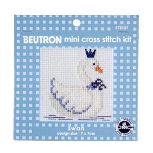 BEUTRON Cross Stitch Kit For Beginner SWAN 7x7cm 578107