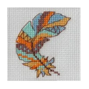 BEUTRON Cross Stitch Kit For Beginner FEATHER 7x7cm 578113
