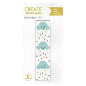 Create Handmade Cross Stitch Bookmark Kit Beginner CLOUDS 20x5cm