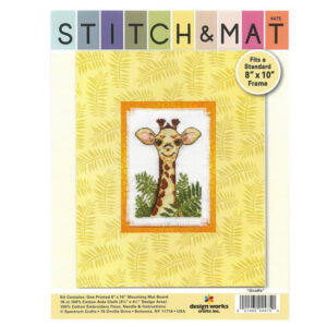 Cross Stitch GIRAFFE X Stitch and Mat Kit incl Threads