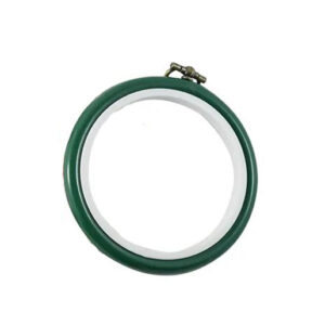 Create Handmade Small Hoop for Cross Stitch Embroidery 7.5cm Green
