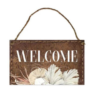 Country Metal Tin Sign Wall Art Bismark WELCOME Plaque