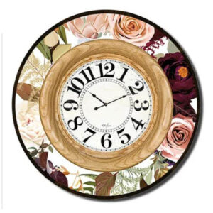 Clock Country Vintage Inspired Wall Large NATIVES PROTEA 60cm