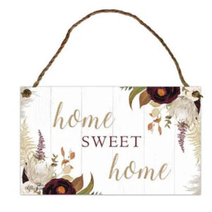 Country Metal Tin Sign Wall Art Natives HOME SWEET HOME Plaque