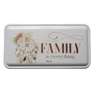 Country Metal Enamel Sign Wall Art Bismark FAMILY IS EVERYTHING Plaque