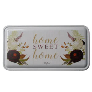 Country Metal Enamel Sign Wall Art Natives HOME SWEET HOME Plaque
