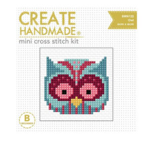 Create Handmade Cross Stitch Kit Beginner OWL 6x6cm